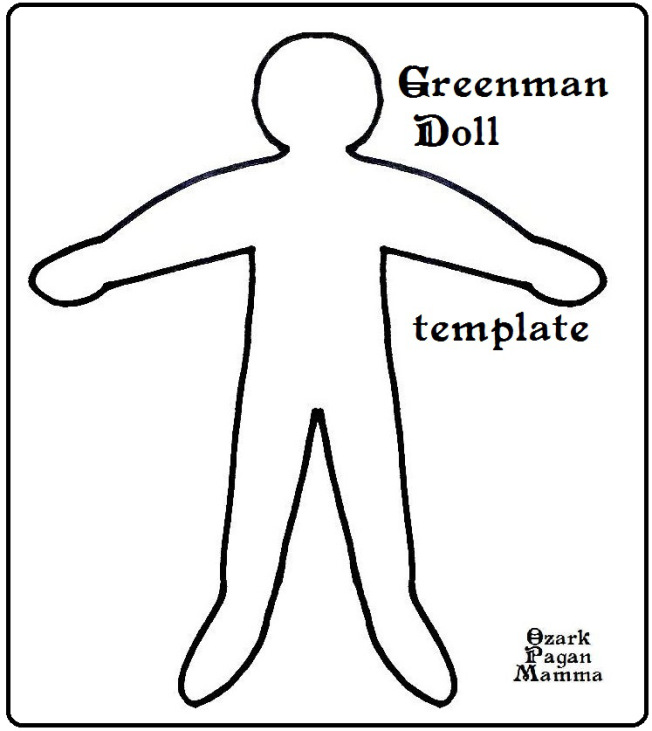 greenman doll template