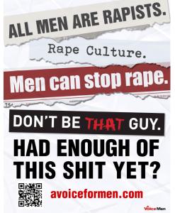 AVFM anti-feminist poster