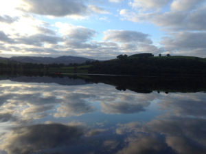 Clouds reflected In Bala Lake
